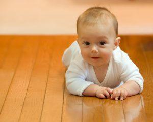 Happy Crawling Baby